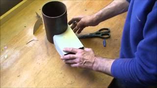 getlinkyoutube.com-Making a Rocket stove riser tube and creating a vortex inside.