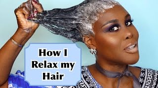 getlinkyoutube.com-How I Relax & Style my Hair At Home | Tutorial | Fumi Desalu-Vold
