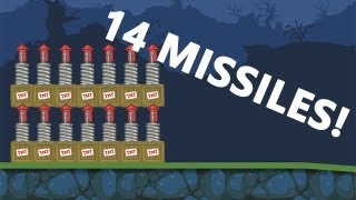 Bad Piggies - 14 Missiles Experiment