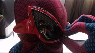 getlinkyoutube.com-The Amazing Spiderman Sunglasses (Eyes for my Replica Mask)
