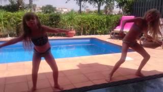 getlinkyoutube.com-Me and my sister dancing on holiday