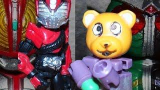 getlinkyoutube.com-仮面ライダードライブ登場!「犯人は誰だ!?刑事と探偵と赤いクマ」Kamen Rider Stop Motion Animation