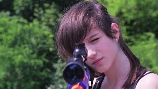 getlinkyoutube.com-NERF WARS LIVE ACTION : BROTHER VS SISTER THE HIDDEN SNIPER RIFLE