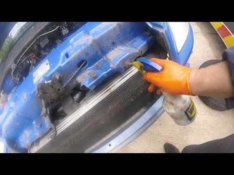 Как снять передние радиатор Fiat Doblo/How to remove the front radiator Fiat Doblo
