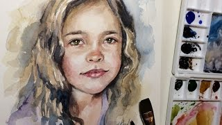 getlinkyoutube.com-Quick Watercolor Portrait Painting Demo by Ch.Karron