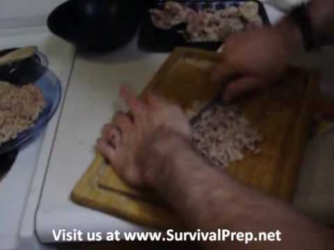 Dehydrating chicken for long-term food storage, part 2