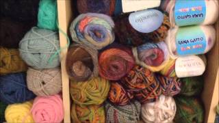 getlinkyoutube.com-Yarn Stash Organization ~ Before and After