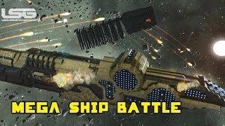 getlinkyoutube.com-Space Engineers - Broadside, Prepare The Cannons, Large Ship Battle