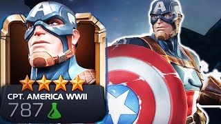 getlinkyoutube.com-Marvel: Contest of Champions - 4-Star WWII CAPTAIN AMERICA Super Attack Review [iPad/Android]
