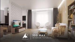 getlinkyoutube.com-3D Max Interior Design Modeling Tutorial Vray + PhotoshopCameraRaw 2016 HD