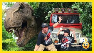 getlinkyoutube.com-Jurassic Park T-Rex GIANT LIFE SIZE DINOSAURS Islands of Adventure Universal Studios Family Fun Toys