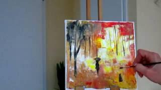 getlinkyoutube.com-Мастихин.Как рисовать с помощью мастихина деревья.Уроки живописи и рисования,как рисовать акрилом