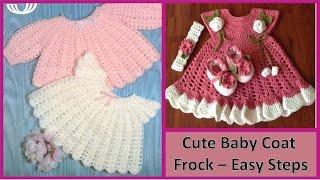 getlinkyoutube.com-बनाओ प्यारा कोट स्वेटर फ्रॉक आसान चरणों में Make Cute Baby Coat Sweater Frock
