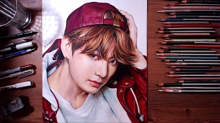 getlinkyoutube.com-BTS : JungKook - colored pencil drawing | drawholic