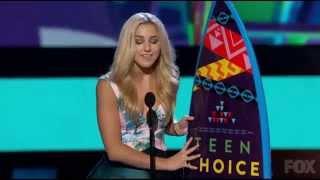 getlinkyoutube.com-Chloe Lukasiak's Acceptance Speech for Choice Dancer - Teen Choice Awards 2015
