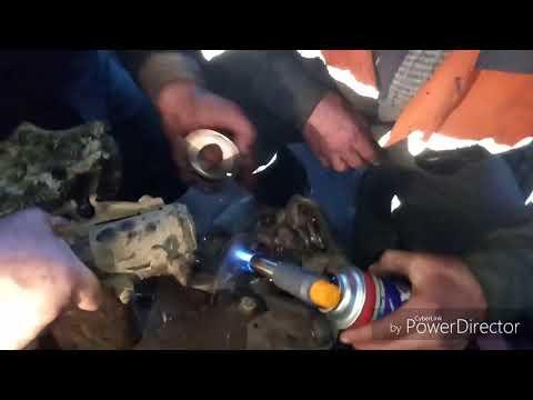 Замена переднего ступичного подшипника своими руками. без пресса. гольф 3