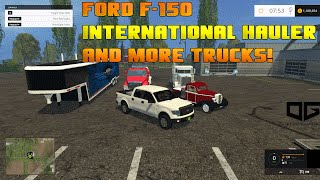 getlinkyoutube.com-Farming Simulator 2015 Mods- Ford F-150, International Hauler, and More!