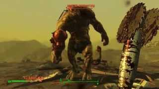 getlinkyoutube.com-Fallout 4 - Hitting Homerun  on Ancient Behemoth & Radscorpions (Survival)