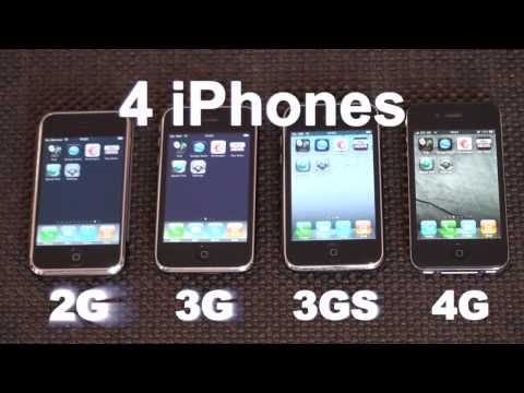 iPhone 2G/3G/3GS/4 Speed Comparison