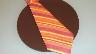 getlinkyoutube.com-Servietten falten Krawatte napkin fold tie