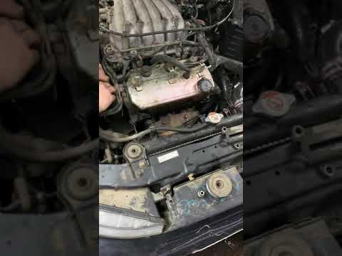 Замена ремня грм и роликов Галант двигатель 6а13