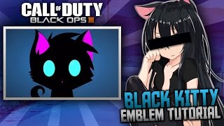 getlinkyoutube.com-Black Ops 3: Black Kitty | Anime Emblem Tutorial + 32 Extra Layers!