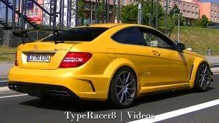 getlinkyoutube.com-Mercedes-Benz C63 AMG Black Series & C63 AMG at Nürburg! 1080p HD!
