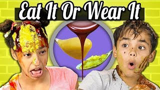Kids Vs. Food   EAT IT OR WEAR IT CHALLENGE