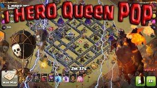 getlinkyoutube.com-LOW 1 HERO TH9 3 STAR ATTACKS! Queen POP LaLoon. Clash of Clans War
