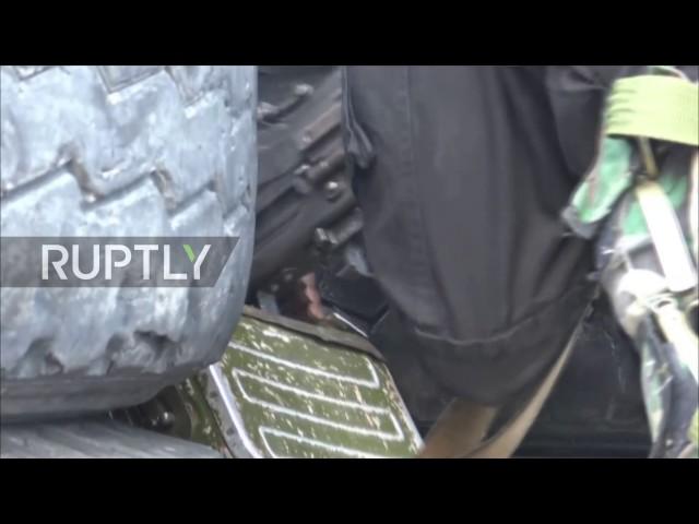 Syrische Armee im Kampfeinsatz westlich von Damascus
