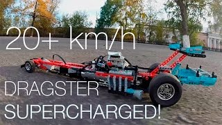 getlinkyoutube.com-20+km/h Fast LEGO Technic Dragster (42050 mod) with SBrick and GoPro