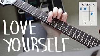 "getlinkyoutube.com-How To Play ""Love Yourself"" Exactly Like The Recording PART I - Justin Bieber, Easy Guitar Lesson"
