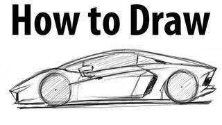 getlinkyoutube.com-How to draw a Lamborghini Aventador - Sketch it quick!