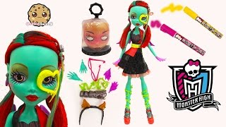 "getlinkyoutube.com-Create A Monster High 28"" Gore-geous Ghoul Friend Doll Changing Eyes + Draw On Playset  Set"