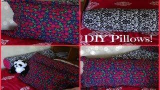 getlinkyoutube.com-DIY Pillows! Body Pillow, Small Pillow, and Long Round Pillow ♥