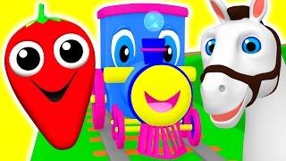 getlinkyoutube.com-Learning Train | Preschool Educational Videos | Learn Colors, Fruits Animals ABC Songs BusyBeavers