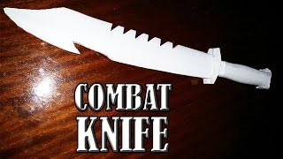 getlinkyoutube.com-How to make a paper combat knife that cuts - paper weapons