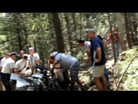 Paul Dallenbach Pikes Peak International Hill Climb 2012 crash