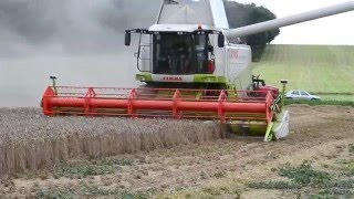 getlinkyoutube.com-Claas Lexion 570 APS Hybrid Systeme [Hd] {Moisson 2011}