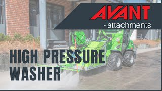 High pressure washer, Avant attachment