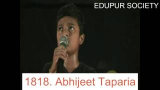 Singing by Abhijeet Taparia