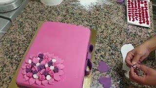 Şeker Hamurlu Pembe Pasta Yapımı-Pate a Sucre Gateau Rose [HD]