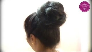 getlinkyoutube.com-Sensual Seducing Various Bun making and Hairstyling by Thigh Length Rapunzel