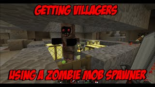 getlinkyoutube.com-Minecraft: Turning a Zombie Mob Spawner into a Villager Spawner