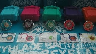 getlinkyoutube.com-Beyblade Review! Mini EX Beyblade Shooter Gum Full Set - BB28 STORM PEGASIS TO BB59 BURN PHOENIX