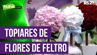 getlinkyoutube.com-Mulher.com 08/12/2014 - Topiares de Flores de Feltro por Karina Raszl
