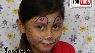 getlinkyoutube.com-DISEÑO FACIL Y RAPIDO DE GATITA  (PINTACARITAS) . FACE PAINTING EASY & FAST KITTY CAT