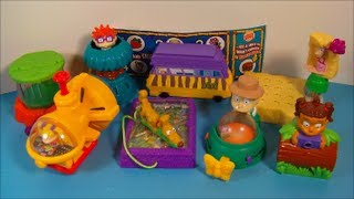 2003 THE RUGRATS GO WILD SET OF 8 BURGER KING KID'S MEAL MOVIE TOY'S VIDEO REVIEW
