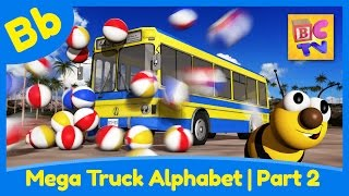 getlinkyoutube.com-Mega Truck Alphabet Part 2 | Learn ABCs with Monster Trucks & More for Kids