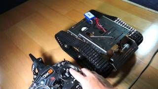 getlinkyoutube.com-原Arduino履帶車改RC車,利用混控與比例設定,測試讓單支遙桿自由直覺操控車子前後與轉向